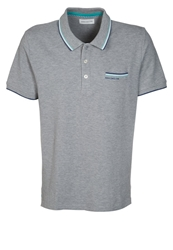 Harris Wilson Polo Mc Pique Polo Shirt Gris Chine Grey