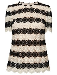 Lk Bennett L.K. Bennett Claudine Crochet Top Black Cream