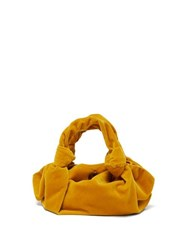 The Row Ascot Velvet Clutch Yellow