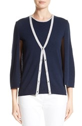 St. John Women's Collection Cashmere Capelette Cardigan