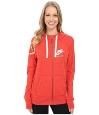 Nike Gym Vintage Full Zip Hoodie Light Crimson Sail Women's Sweatshirt Orange