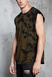 Forever 21 Crystal Dye Muscle Tee