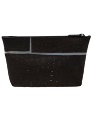 Luisa Cevese Riedizioni Check Print Shaving Bag Black