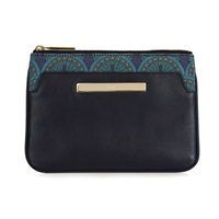 Catherine And Jean Jean Pocket Clutch In Midnight Blue Peacock