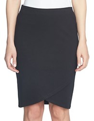 Cece Ponte Midi Pencil Skirt Black