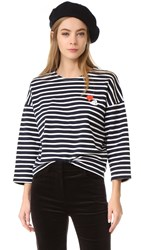 Vivetta Striped Sweatshirt White Ink