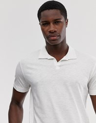 Selected Homme Revere Collar Polo Shirt In White Organic Cotton