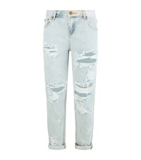 One Teaspoon Baggy Distressed Jeans Female Blue