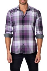 Unsimply Stitched Long Sleeve Checker Print Semi Fitted Woven Shirt Multi