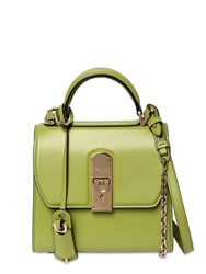 Salvatore Ferragamo Small Boxy Leather Shoulder Bag Absinthe