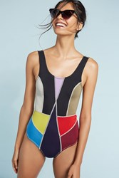 Anthropologie Cynthia Rowley Colorblock One Piece Assorted
