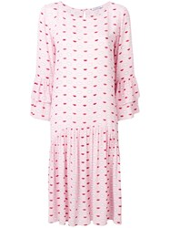 Vivetta Clouds And Lips Babydoll Dress Pink