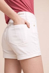 Anthropologie Pilcro Script High Rise Shorts White