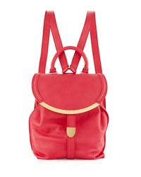 See By Chloe Lizzie Leather Flap Backpack Pink