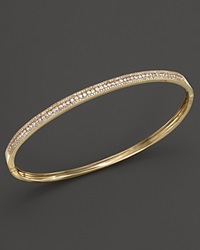 Bloomingdale's Diamond Bangle In 14K Yellow Gold 1.0 Ct. T.W. White Gold