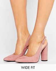 New Look Wide Fit Sling Back Court Heel Pink
