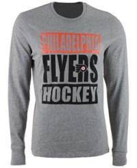 47 Brand '47 Men's Philadelphia Flyers Stacked Club Long Sleeve T Shirt Gray