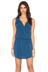 Bella Luxx Smocked Waist Tank Dress Blue