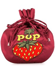 Hysteric Glamour Pop Berry Drawstring Clutch Bag Red