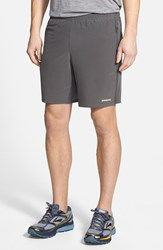 Men's Patagonia 'Nine Trails' Stretch Woven Running Shorts Forge Grey
