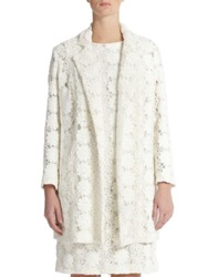 Marina Rinaldi Plus Size Embroidered Lace Coat White
