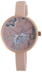 Pilgrim Rose Gold And Pink Watch With Flowers Pink