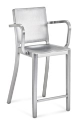Emeco Hudson Counter Stool With Arms Gray