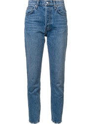 Derek Lam 10 Crosby High Rise Jeans Blue