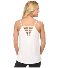 Zobha Jelena Strappy Singlet White Women's Workout