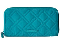 Vera Bradley Rfid Georgia Wallet Turquoise Sea Wallet Handbags Blue