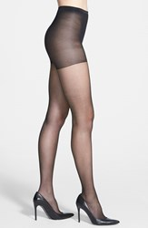 Women's Calvin Klein Shimmer Sheer Control Top Pantyhose Black