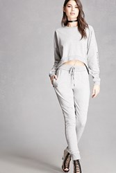 Forever 21 Distressed Zipper Sweatpants