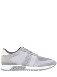 Tod's Leather And Mesh Running Sneakers