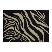 Roberto Cavalli Zebrage Placemat Set Of 2 Black