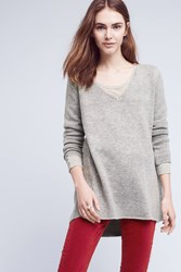 Anthropologie Maddy Pointelle Back Tunic Grey