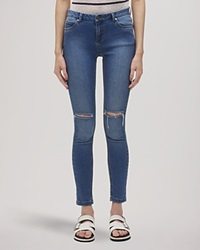 Whistles Jeans Ripped Knee Mid Wash Denim