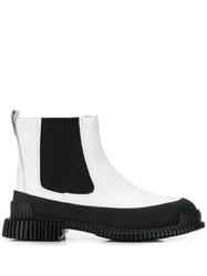 Camper Wedge Boots White