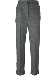 Dolce And Gabbana Tweed Check Trousers Grey
