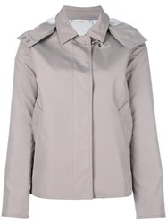 Fay Zip Up Biker Jacket Nude Neutrals