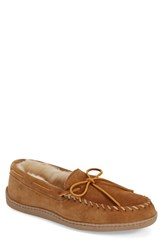 Men's Minnetonka Genuine Shearling Moccasin Slipper