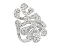 Miseno Sea Leaf Pave Diamond Ring White Gold