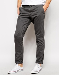 Solid Solid Straight Fit Chinos Midgrey