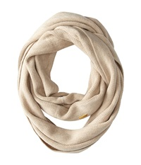 Calvin Klein Soft Acrylic Infinity Heathered Almond Scarves Beige