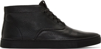 Alexander Wang Black Grained Leather Ash Chukka Sneakers