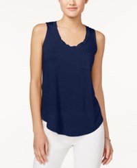 Maison Jules Pocket Tank Top Only At Macy's Blu Notte