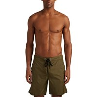 Solid And Striped Long Board Shorts Olive