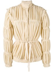 J.W.Anderson Pleated Jacket Women Silk Polyester Acetate Viscose 8 Nude Neutrals