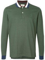 Kent And Curwen Classic Longsleeved Polo Shirt Green