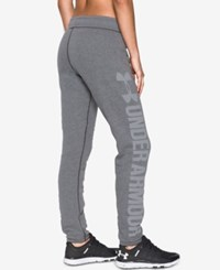 Under Armour Favorite Fleece Sweatpants Carbon Heather White