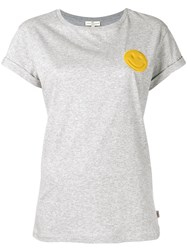 Anya Hindmarch Smile Patch T Shirt Grey